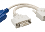 Dual Monitor DVI Splitter Y-Cable DVI-I to DVI-D a