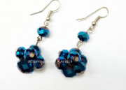 Blue Chandlier Crystal Earrings
