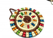 Multi colored Handwoven coasters