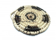 Black/Cream Handwoven coasters
